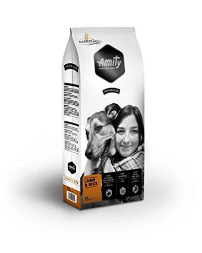 AMITY comida cordero y de arroz PREMIUM 15 KG de pienso completo para perros