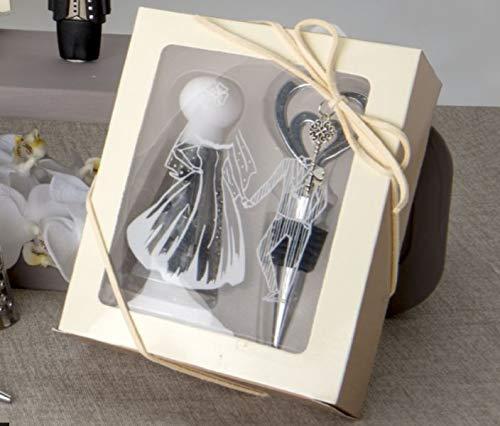 3Stück Joia Set Spitze und Reibe in Geschenkbox Bonboniere Hochzeit