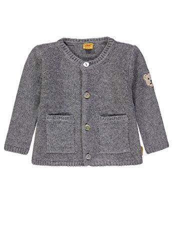 Grays Seide Pullover (Steiff Unisex Baby 1/1 Arm Strickjacke, Grau (Softgrey Melange|Gray 8200), 80)