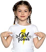 Camiseta Girl Power Niña – Camiseta Feminista y Alegre 100% Algodón, cómoda, cálida, Lisa y Elegante
