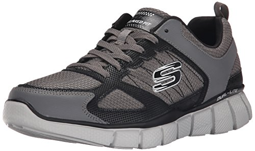 SKECHERS EQUALIZER 2 ON TRACK CCBK, Charcoal Black, 42 EU