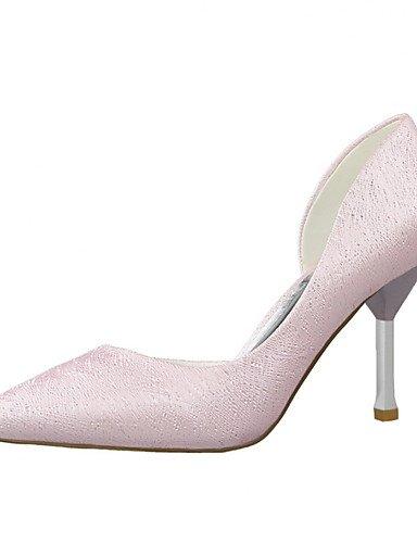 WSS 2016 Chaussures Femme-Habillé-Noir / Rose / Blanc / Argent / Gris / Amande-Talon Aiguille-Talons / Bout Pointu / Bout Fermé-Talons-Similicuir pink-us5 / eu35 / uk3 / cn34