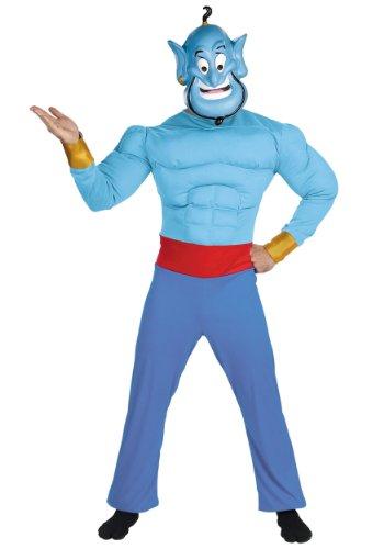 Disney Aladdin: Genie / Genie Muskel Erwachsener (Aladdin Genie Kostüm)