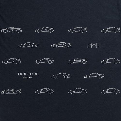 Evo Cars of the Year T-shirt, Uomo Nero