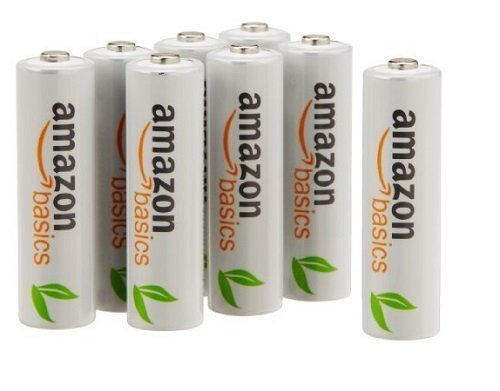 AmazonBasics AAA Pre-Charged Rechargeable Batteries 800 mAh [Pack of 12] (Packaging may vary) Test