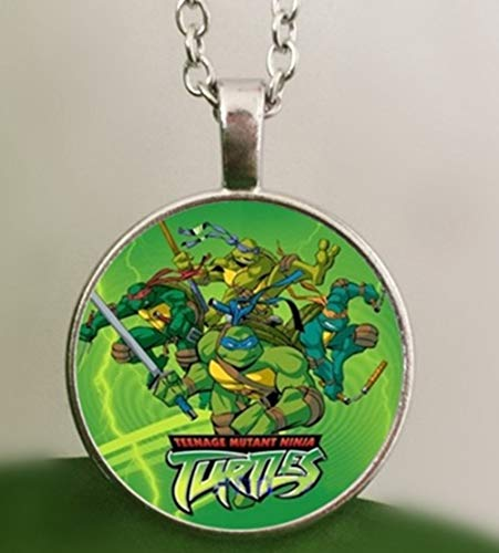 Hot Movie Teenage Mutant Ninja Turtles Halskanten Handmade Glass Cabochon Photo Necklaces Pendants Kids Jewelry Boys Gifts