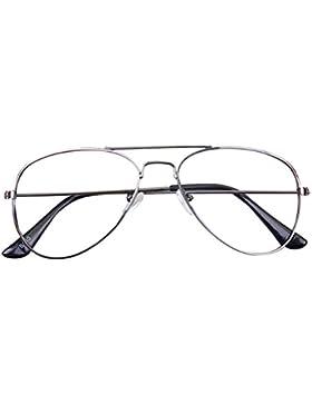 Marco de los vidrios del aviador del bebé - Niños Gafas Geek / Nerd Retro Reading Eyewear No Lentes para Niñas...