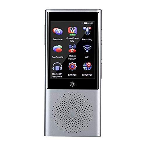 YQG Smart WiFi Traduttore Istantaneo Vocale,Portatile con GPS Mini Bluetooth Dispositivo Touch Screen 2.8'IPS, Supporto 45 Lingue per Viaggiare, Studiare, Affari,Grigio