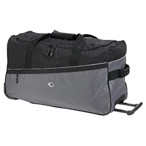 Activequipment Black / Grey Wheeled Holdall from Holdalls