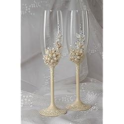 Copas de boda hechas a mano de cristal