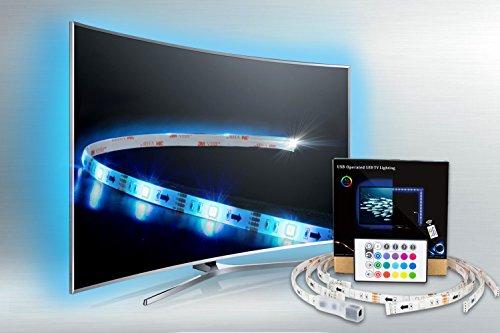 Minger 4x50cm led usb luce di striscia tv led sfondo kit di