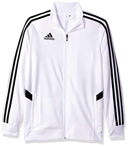 adidas Jungen Alphaskin Tiro Youth Training Jacket Jacke, weiß/schwarz, X-Small
