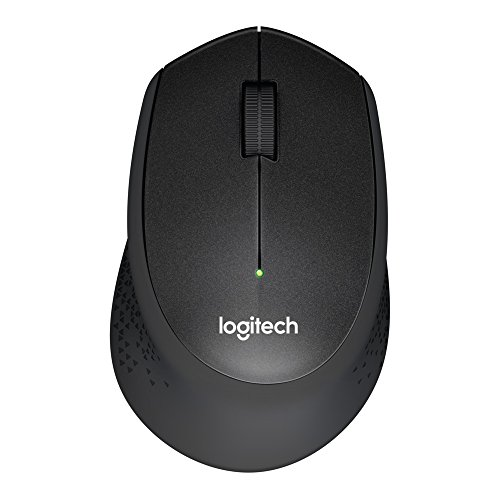 Logitech M330 Silent Plus Wireless Large Mouse (Black)