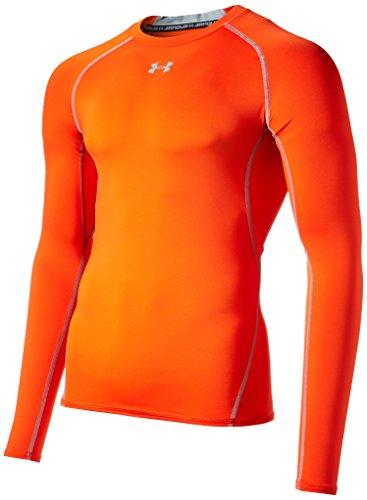 Under Armour Hg Ls Comp Langarm T-Shirt, Herren XXXL orange