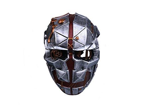 Herren Cosplay Grau Fiberglass Maske Einstellbar Halloween Verrücktes Kleid Für (Dishonored Kostüm Halloween)