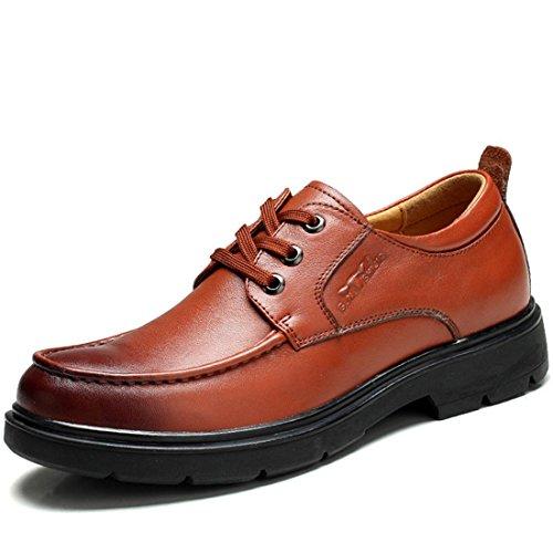 Uomo Attività commerciale Spessore inferiore Scarpe di pelle Antiscivolo Aumenta le scarpe Vestito formale Ballerine Aumenta le scarpe euro DIMENSIONE 38-44 red