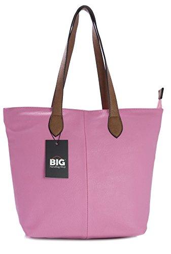 Big Handbag Shop - Sacchetto donna (rosa)