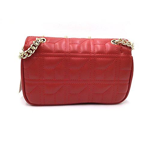 SheliDesigner Sacchetti di Spalla del Progettista delle dell'annata Borsa a Trapuntate Tracolla con borchie a Tracolla per le Donne Rosso
