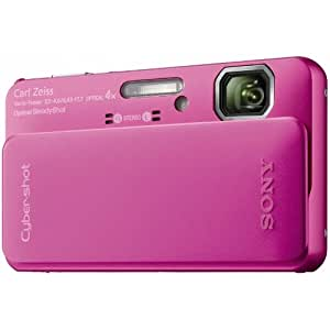 Sony DSC-TX10P Digitalkamera (16 Megapixel, 4-fach opt. Zoom, wasserdicht bis 4m,Full HD Video, 7,6 cm (3 Zoll) Display) pink