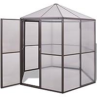 vidaXL Invernadero de Aluminio 240x211x232 cm para Jardín o Patio Propagador