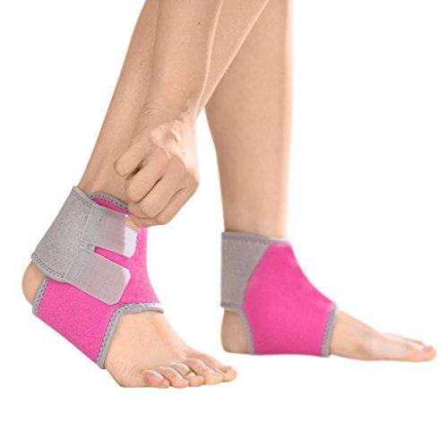 Kinder Knöchelbandage Sport Fußbandagen Sprunggelenkbandage mit Klettverschluss Atmungsaktive Knöchelstütze für Kompression beim Laufen Fußball Volleyball