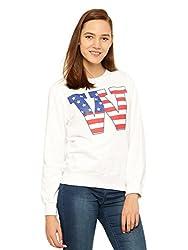 Vvoguish White Printed Sweatshirt-VVSWTSHT939WHT-L