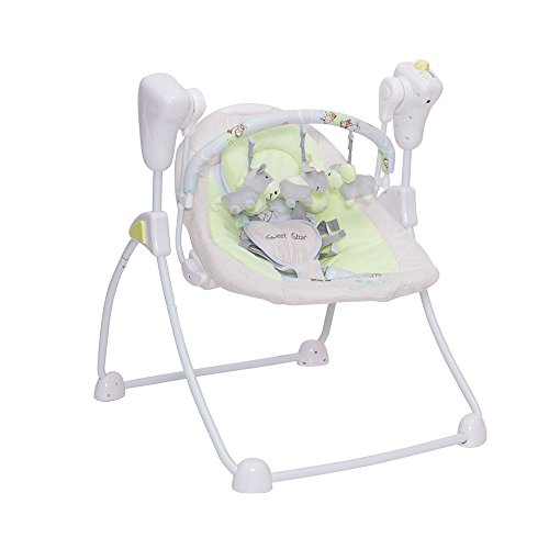 Babywippe Swing Sweet Star elektrisch mit Timer (Grün)