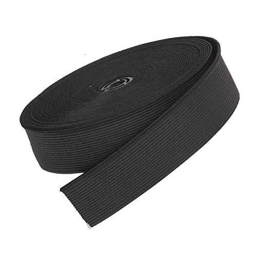 The bead shop ampio nastro elastico piatto | elastico per cucire con fettuccia estensibile (nero, 20mm)
