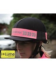 Equi-flector haute visibilité d'équitation Chapeau Bande avec LED clignotante lumière–Rose vif