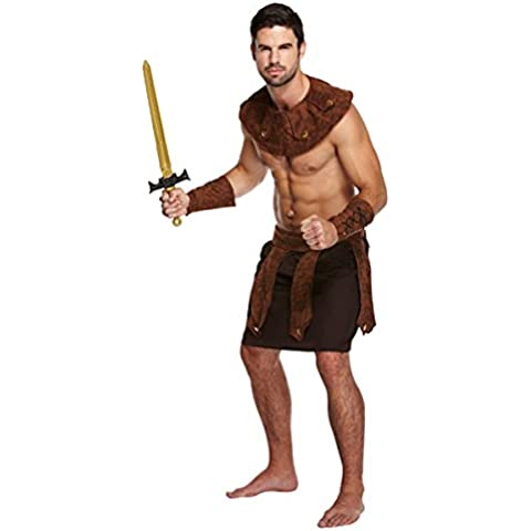 Mens greco Gladiatore generale Fighter Costume Adulti Fancy Dress Outfit
