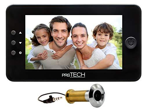 prsTECH® DoorCAM DC1 PLUS Wide Screen, Digitaler-Türspion 4,3 Zoll LCD Display für Türstärken von 38-110mm Plus Digital Display