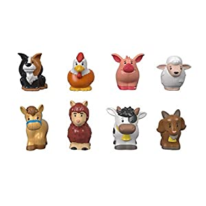 Fisher-Price Little People-Pack de 8 Figuras animalitos de la Granja, Juguetes bebés +1 año, Multicolor (Mattel GFL21)