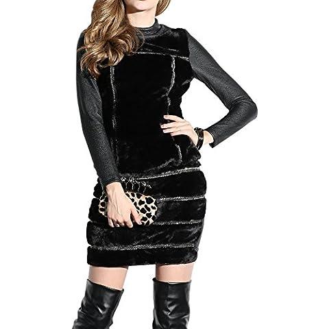 Oulu® Donne Moda scollo a sottile poliestere Vestito OW230976