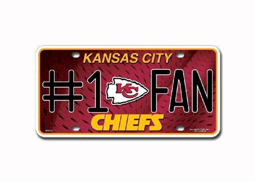 NFL # 1FAN Metall Auto Tag, unisex, Kansas City Chiefs