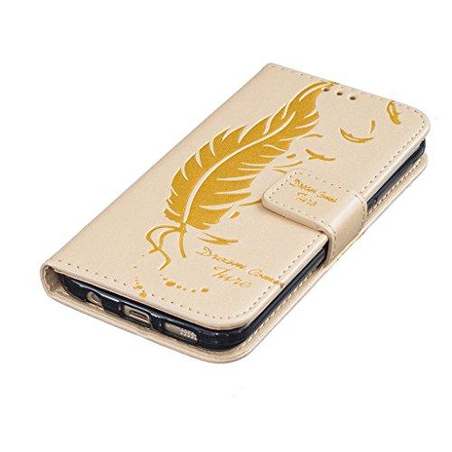 Custodia per iPhone 5, iPhone 5S, iPhone SE Custodia, con protezione per lo schermo in vetro temperato] antigraffio, fatcatparadise (TM) Custodia posteriore in silicone morbido, elegante vintage fiori Gold