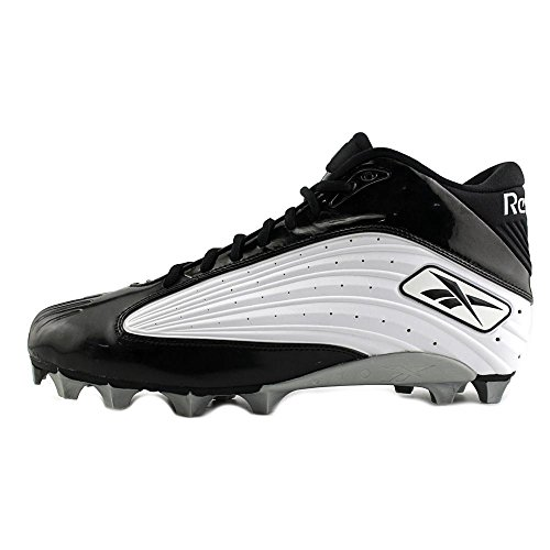 Reebok NFL Outsidespeed Mid M Synthétique Baskets White-Black
