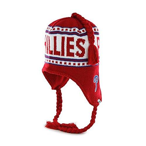 47 Brand Montreux Cuffless Beanie Mütze mit geflochtenen Quasten - NFL Häkelstrick Toque Skull Cap, Herren, Philadelphia Phillies, One Size Fits All New Era Toque