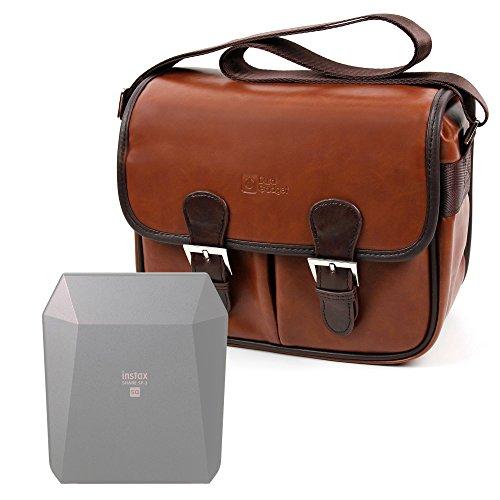 Galleria fotografica DURAGADGET Borsa Vintage Per Stampante portatile Fujifilm Instax Share SP-3 SQ - Con Tracolla Regolabile - Alta Qualità