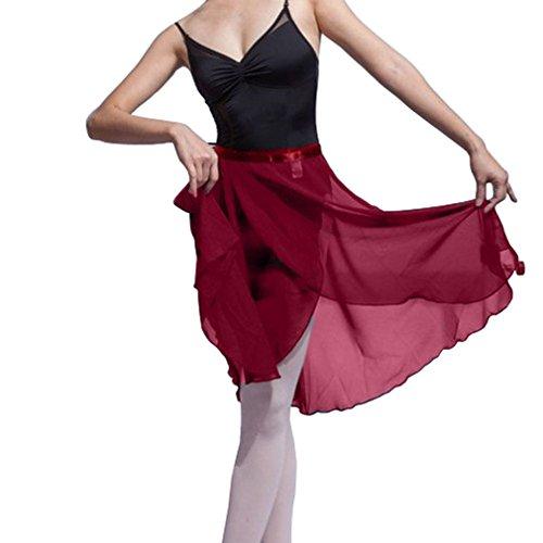HOEREV Erwachsene schiere Wrap Skirt Ballett Rock Ballett Tanz Dancewear (Schiere)
