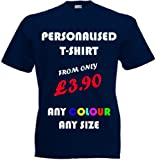 Custom Printed T-shirts (FRONT & BACK), Personalised By You! Great Gift!
