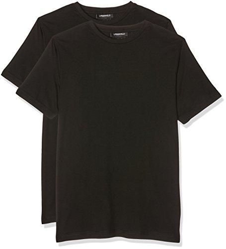 lagerfeld-duo-pack-crew-neck-camiseta-para-hombre-negro-schwarz-990-medium-lot-de-2