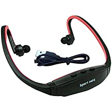 Micomy Wireless Sports MP3 Music Player for Gym Running Jogging - Red