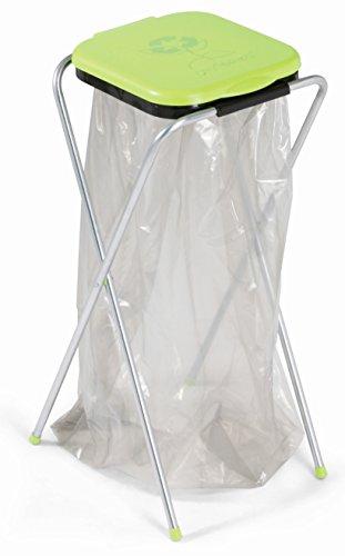 Casabriko eko 1 cestino - contenitore portasacchi per spazzatura. struttura in acciaio zincato con coperchio colorato in plastica