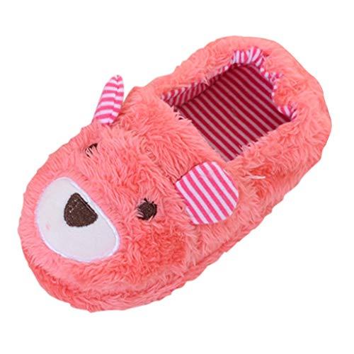 WEXCV Schuhe Kinder Unisex Baby Jungen Mädchen Cartoon-Bär Verdicken Plüsch Winter Warme Kleinkind Schuhe Anti-Rutsch Babyschuhe Baumwollschuhe Indoor Hausschuhe