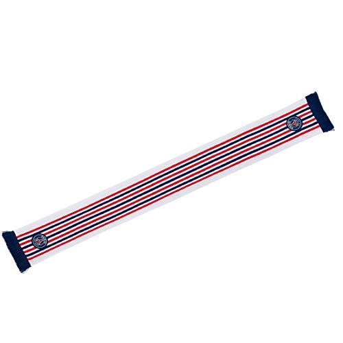 0530fdc32d58a5 Echarpe PSG Jacquard Badges 2 - PSG - Licence Officielle - Blanc. Taille EU  -
