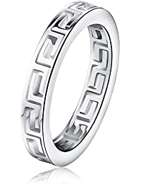 K Mega Jewelry Simple Hollow Stainless Steel Mens Ring