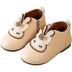 LoveLeiter Kinder Mädchen Cartoon Kaninchen Bogen Reißverschluss Einzelne Schuhe Stiefeletten,Kleines Mode lässig Bowknot Stiefel Anime Muster Prinzessin Kleine Lederschuhe
