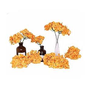 Flores artificiales, 10 piezas de hortensias artificiales para centros de mesa y arreglos florales de tacto real para decoración del hogar, bodas y fiestas.