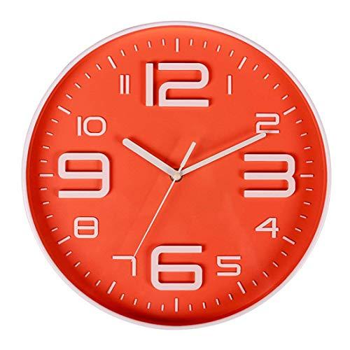 WOVELOT Reloj De Pared Sin Tictac Silencioso De Cuarzo De Número 3D Grande Interior Decorativo Funciona...
