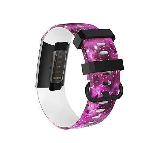 Premium Silikon Armband | Handgelenk für Fitbit Charge 3 Smart Band | Designer Band | Ersatz | Haltbar Sport | Schön | Zubehör | Größe L | Größe S | Premium Silikon | Hohe Qualität | Komfortabel